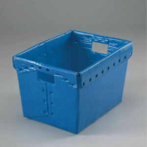 18 1 2x13 1 4x12 Corrugated Plastic Totes Container Without Lid Pkg Qty 10 blue