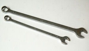 Two Mac Extra Long Combination Wrenches 9 16 3 4 Full Polish Usa