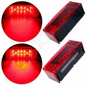 Red Stop Turn Tail Brake over 80 Trailer Rv Led Light Kit 12v Universal Car