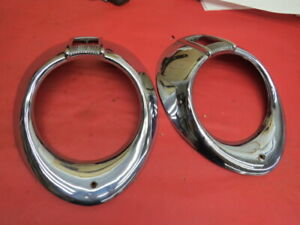 1940 Ford Older Reproduction Headlamp Bezels Pair D 5 1