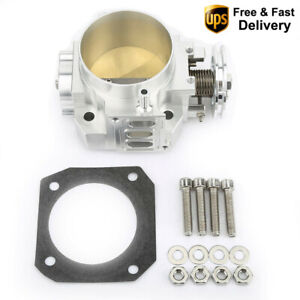 Aluminum 70mm Throttle Body For Civic Si Ep3 Integra Rsx Dc5 K series K20 K20a