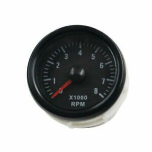 2 52mm Electrical Tachometer Gauge For 0 8 x1000 Rpm Led Display Universal