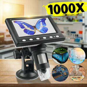 4 3 1000x Electronic Digital Video Microscope Lcd Monitor Led Magnifier