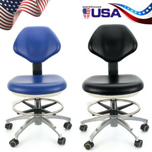 Dental Doctor s Stool Adjustable Dentist Mobile Chair Pu Leather 26