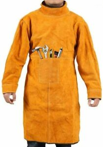 Welding Jacket Leather Welding Apron Heat Flame resistant Heavy duty Work Apro