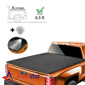 4 Fold 6 5ft Soft Tonneau Cover For 2002 2019 Dodge Ram 1500 2500 3500 Truck Bed