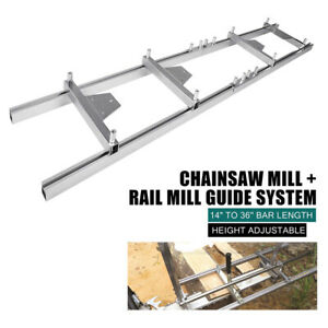 Ladder Connector 9ft Or 5ft Milling Rail System Chainsaw Mill Guide Set Ladder