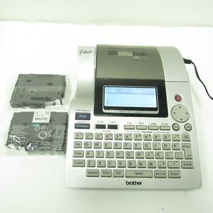 Brother P touch Pt 2700 Thermal Label Printer W Ac Adapter 2 New Ribbons Works