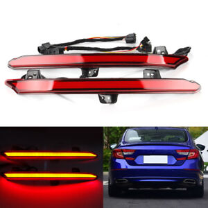 Led Rear Bumper Light Tail Flow Turn Signal Lamps For Honda Accord 10th 2018 19