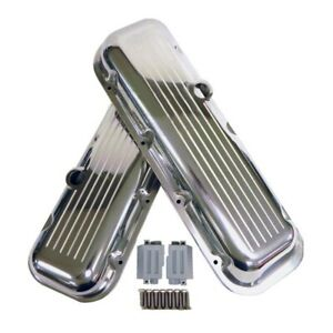 Big Block Chevy 396 427 454 Short Ball Milled Polished Aluminum Valve Covers Bbc