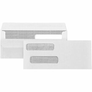 500 No 8 Flip And Seal Double Window Security Check Envelopes Designed For 3