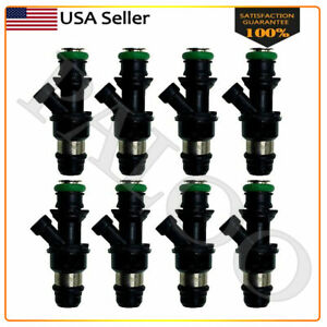 8 Oem Delphi 42lbs 3bar Genuine Fuel Injector For 01 04 Chevy Gmc Marine 8 1l V8