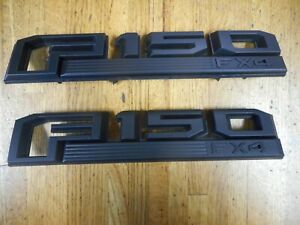 New Black Ford F150 Fx4 Front Fender Emblems Pair 2015 2016 2017 2018 F 150