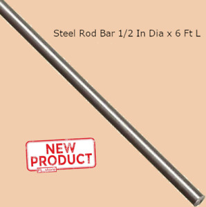 Stainless Steel Solid Round Rod Stock 1 2 Inches X 6 Ft 72 Inches Unpolished New