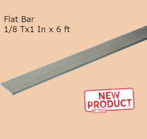 Stainless Steel Flat Bar Stock 1 8 Inch X 1 Inch X 6 Ft Rectangular Mill Finish