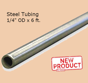 Round Tubing Stainless Steel 1 4 Inch Od X 6 Ft Welded 0 180 Inch Inside Dia New