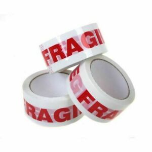 18 Rolls Fragile Tape 2 X 110 Yards 330 2 0 Mil Printed Packaging Tapes