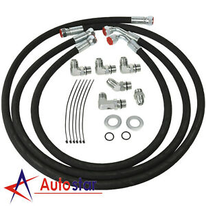 Transmission Cooler Lines For 06 10 Chevy Gmc 6 6l Duramax Diesel W Adapters