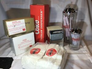 Coca-Cola Vintage set of Three Collectables  Napkin & Straw Dispensers New!