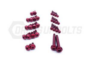 Dress Up Bolts For Nissan Skyline Gt R R32 R33 R34 Rb26 Ti Engine Cover Red