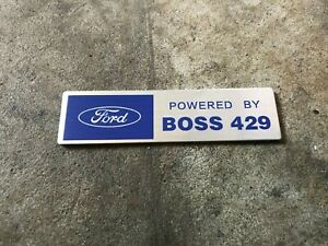Powered By Ford Boss 429 Engine Valve Cover Dash Plaque Mustang Boss Hemi Emblem