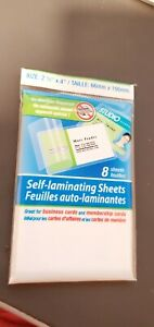 8x Self Laminating Card Sheets Seal 2 1 2 X 4 Great For Business Cards Id