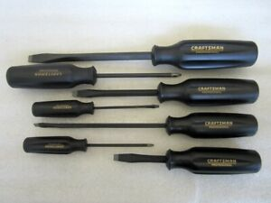 Craftsman Professional 7pc Screwdriver Set Wf Phillips Slotted Made In Usa