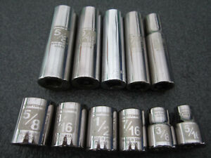 Craftsman 3 8 Drive Sae 6pt 12pt Socket Set 11pc Deep Laser Etch Ez Read Usa