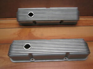 Cal Custom Ford Fe 390 406 427 428 Vintage Finned Aluminum Valve Covers 40 1018