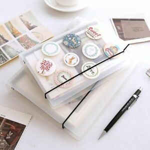Notebook Diary Binder Files Paper Planner Card Storage Coil Ring Plastic Cover
