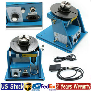 110v 2 5 Rotary Welding Positioner Turntable Table 10kg 2 10 R min 0 90 Usa
