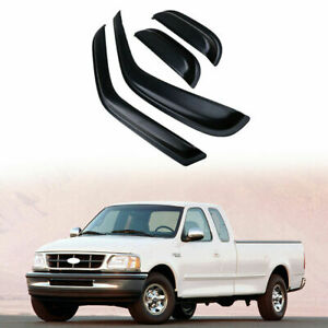 Window Visor Rain Guard For Ford F 150 Extended Cab Pickup 1997 2003 98 99 01 02