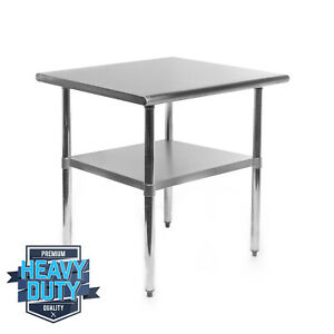 Open Box Stainless Steel Commercial Kitchen Work Food Prep Table 24 X 30
