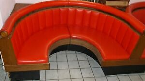 Vintage Diner Booths Round Red Retro 1950 60 Style