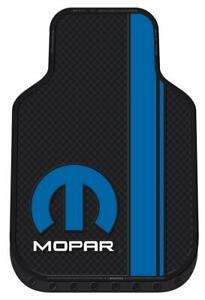 Summit Gifts 001584r02 Floor Mats Front Seat Area Rubber Mopar Logo Pair