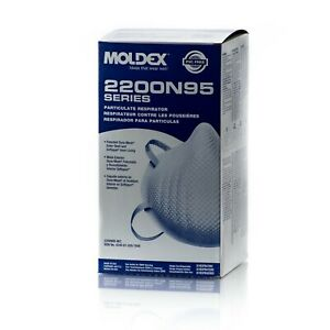New Moldex 2200n M l 1 Box 20 Pcs Per Box N Grade Type 95 Exp 04 2029