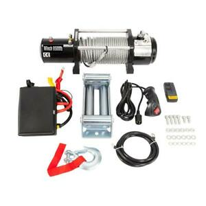 9500lbs 12v Electric Winch Towing Truck Trailer Steel Cable Off Road