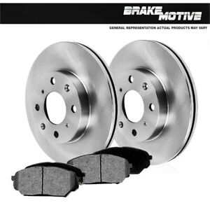 For 1998 1999 2002 Toyota Corolla Chevy Prizm Front Rotors Metallic Pads