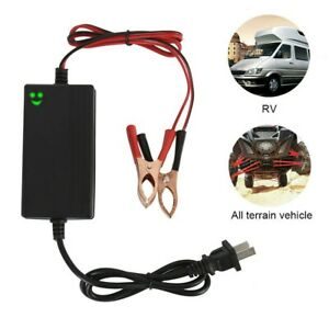 12v Car Battery Maintainer Charger Tender Portable Auto Trickle Boat Motorcycle