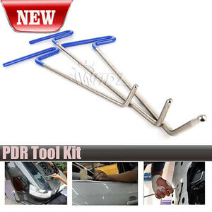 3pcs Paintless Dent Repair Tools Puller Push Rods Car Body Hail Dent Removal Set