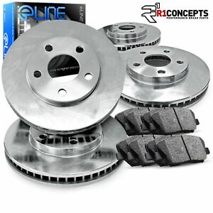 For Audi 5000 90 80 Quattro Front Rear Blank Brake Rotors Ceramic Brake Pads