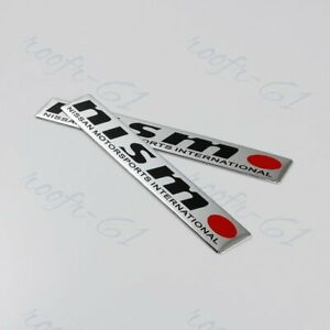 Nismo Car Body Trunk Emblem Badge Sticker Decal For Nissan Gtr 350z 370z 2 Pcs