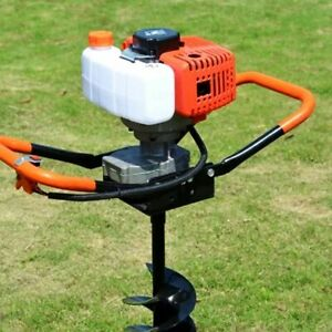 52cc 2 stroke Gas Powered Earth Auger Head Post Hole 7000rpm Digger Machine