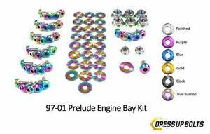 Dress Up Bolts Prelude 97 01 H22a4 Titanium Ti Engine Bay Kit True Burned