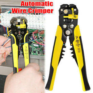 Self adjusting Insulation Wire Stripper Automatic Cutter Crimper Pliers Tool 8