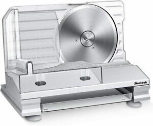 Siontech Electric Deli Food Slicer With Removable 7 5 Stainless Steel Blade ad