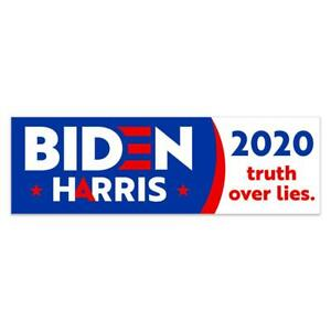 Biden Harris 2020 Truth Over Lies Vinyl Banner size Options
