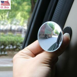 Us 360blind Spot Side Mirror Stick Glass Adjustable Safety Lens Car Accessories