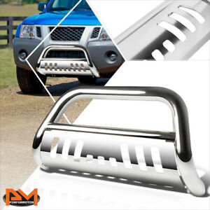 For 05 16 Frontier pathfinder 3 Tube Bull Bar Front Bumper Grille Guard Chrome
