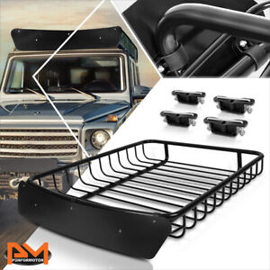 51 X 40 Mild Steel Roof Rack Van Suv Baggage Cargo Carrier Basket W Wind Fairing